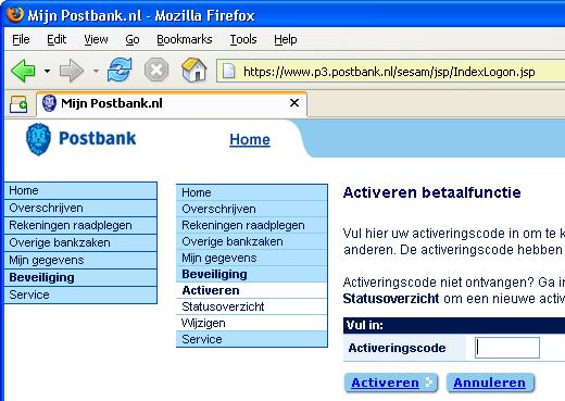 Postbank bug
